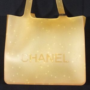 Orange PVC Chanel Tote